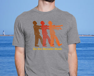 Do the Monster Mash - Zombie Halloween Ultra Comfort Men's Vintage Tshirt - Island Dog T-Shirt Company