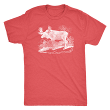 Vintage Moose Guy's Retro Tee - Men's Ultra Soft Comfort Short Sleeve Tee - Moose T-shirt for Him - Island Dog T-Shirt Company