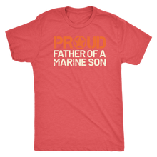 Proud Father of a Marine Son - Men's Ultra Comfort Short Sleeve Military Dad Tee - Island Dog T-Shirt Company
