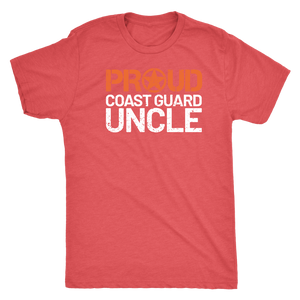 Proud Coast Guard Uncle - Men's Ultra Comfort Short Sleeve Military UncleTee - Island Dog T-Shirt Company