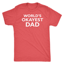 World's Okayest Dad - Funny Men's Extra Soft Triblend T-Shirt - Island Dog T-Shirt Company