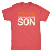 Proud Father of an Air Force Son - Men's Ultra Comfort Short Sleeve Dad Tee - Island Dog T-Shirt Company