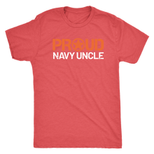 Proud Navy Uncle - Men's Ultra Comfort Short Sleeve Military UncleTee - Island Dog T-Shirt Company