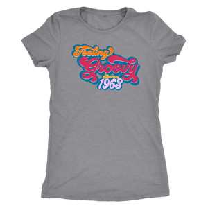 Feeling Groovy Since 1963 - Ladies' Birthday Year Shirt for Women - Anniversary Ultra Soft Tee - Island Dog T-Shirt Company
