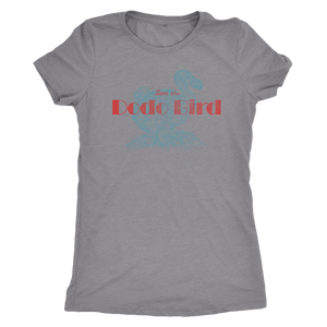 Save the Dodo Bird - Women's Ultra Soft Comfort Short Sleeve Tee - Dodo T-shirt for Her - Island Dog T-Shirt Company