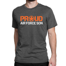 Proud Air Force Son - Men's Ultra Soft Short Sleeve Military Son Tee - Island Dog T-Shirt Company