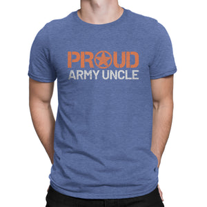 Proud Army Uncle - Men's Ultra Comfort Short Sleeve Military UncleTee - Island Dog T-Shirt Company