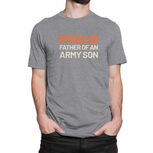 Proud Father of an Army Son - Men's Ultra Soft Short Sleeve Military Dad Tee - Island Dog T-Shirt Company