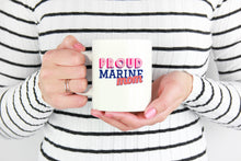 Proud Marine Mom 11 ounce Coffee Mug - Tea Cup - Hot Chocolate Mug - Island Dog T-Shirt Company