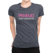 Proud Navy Daughter - Women's Ultra Soft Comfort Short Sleeve Tee - Kid's Military Pride Shirt - Island Dog T-Shirt Company