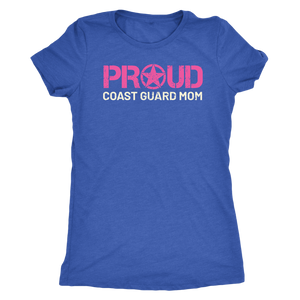 Proud Coast Guard Mom - Women's Ultra Soft Comfort Short Sleeve Tee - Mom's Military Pride Shirt - Island Dog T-Shirt Company