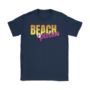 Beach Please Ladies' Beach & Summer Tee for Her - Island Dog T-Shirt Company