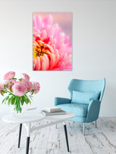 Room Decor for Women - Glam Decor - Pink Home Decor - Flower Painting - The Unfurling - Island Dog T-Shirt Company