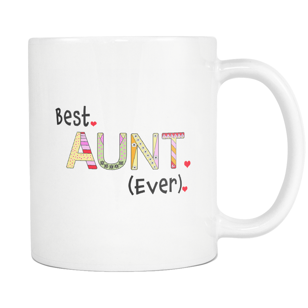 Best Aunt Ever 11 ounce Coffee Mug - Tea Cup - Hot Chocolate Mug - Island Dog T-Shirt Company