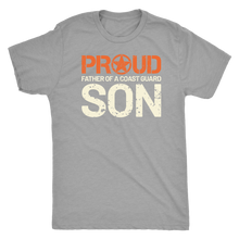 Proud Father of a Coast Guard Son - Men's Ultra Soft Short Sleeve Military Dad Tee - Island Dog T-Shirt Company