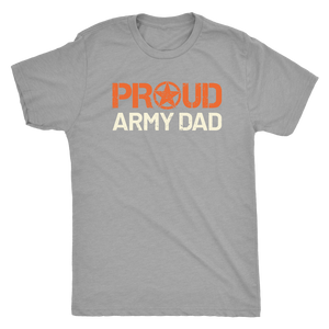 Proud Army Dad - Men's Ultra Soft Short Sleeve Military Father Tee - Island Dog T-Shirt Company