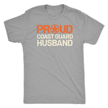 Proud Coast Guard Husband - Men's Ultra Soft Short Sleeve Military Hubbie Tee - Island Dog T-Shirt Company