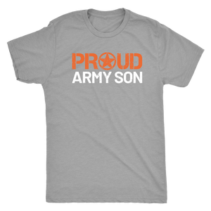Proud Army Son - Men's Ultra Soft Comfort Short Sleeve Tee - Son's Military Pride Shirt for Mom or Dad - Island Dog T-Shirt Company