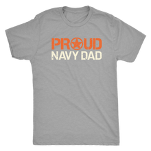 Proud Navy Dad - Men's Ultra Soft Short-Sleeve Military Tee - Island Dog T-Shirt Company