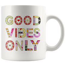 Good Vibes Only Coffee Mug for Women - Colorful Positive Mindset Cup - Island Dog T-Shirt Company