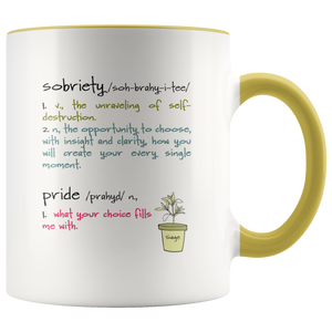 Sobriety - Soberversary - Sober Anniversary - Sober Life - Sobriety Gift for Friend - 11 oz 2-Color Coffee Cup - Island Dog T-Shirt Company