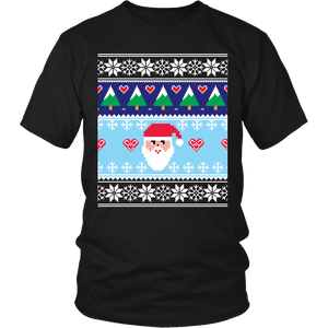 Ugly Christmas Shirt for Men and Women - Holiday Party Santa Unisex Tee - Island Dog T-Shirt Company