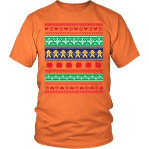 Ugly Christmas Shirt - Gingerbread Chorus Line Holiday Party Tee - Island Dog T-Shirt Company