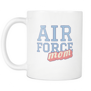 Air Force Mom 11 oz Coffee Mug - Tea Cup - Hot Chocolate Mug for Mother - Island Dog T-Shirt Company