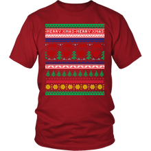 Ugly Christmas Shirt for Men and Women - Hipster Santa Holiday Party Unisex Tee - S - 4XL - Island Dog T-Shirt Company