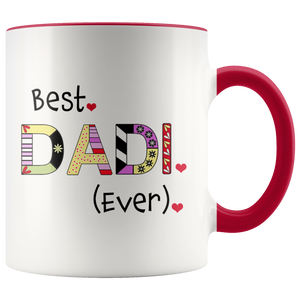 Best Dadi Ever - World's Best Grandma Coffee Mug - 2 Tone Coffee Mug for Grandmother - Island Dog T-Shirt Company