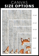 Woodland Nursery Decor for Boys - Boy Nursery Decor - Canvas Wall Art for Nursery - 5 Sizes - Baby Boy Room Woodland Fox over Birch Trees - Island Dog T-Shirt Company