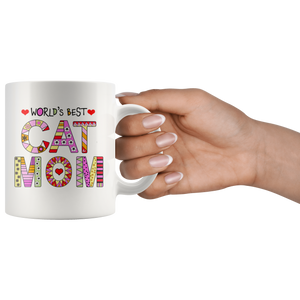 Cat Mom Mugs - Super Cute Cat Ceramic Mug - Funny Kitty Cups Novelty for Kitten Lovers - Island Dog T-Shirt Company