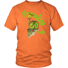 Gremlins Rule Spooky Halloween Tee - Illustrated Graphic Tshirt for Men & Women - Island Dog T-Shirt Company