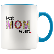 Best Mom Ever Coffee Mug - 2-Tone Mug - 11 Ounce Colorful Mother Coffee Cup - Island Dog T-Shirt Company