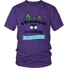 Adventure Is Calling and I Must Go - Unisex Short-Sleeve T-Shirt - Island Dog T-Shirt Company