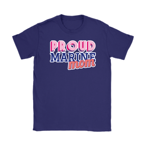 Proud Marine Mom Tee - Mother of a Marine T-Shirt - Island Dog T-Shirt Company