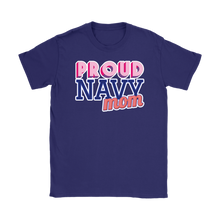 Proud Navy Mom Tee - Mother of a Sailor T-Shirt - Island Dog T-Shirt Company