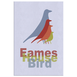Modern Wall Art Canvas - Mid Century Modern Wall Decor - Eames House Bird Wrapped Canvas - Island Dog T-Shirt Company