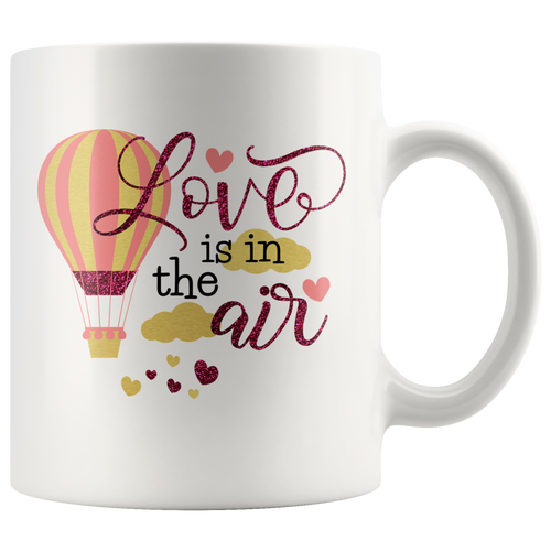 Love is in the Air Sweet Valentine's Anniversary Birthday Gift - Island Dog T-Shirt Company