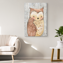 Woodland Nursery Decor for Boys - Boy Nursery Decor - Canvas Wall Art for Nursery - 5 Sizes - Baby Boy Room Woodland Owl over Birch Trees - Island Dog T-Shirt Company