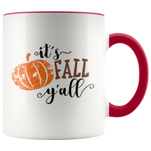 It's Fall Y'all Southern Charm Autumn Coffee Mug - 11 oz - Choose Your Handle Color - Island Dog T-Shirt Company