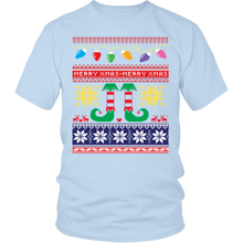 Ugly Christmas Shirt for Men and Women - Short Sleeve Holiday Party Santa's Elves Unisex Tee - Island Dog T-Shirt Company