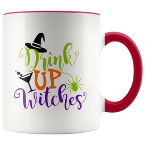 Drink Up Witches Women's Funny Halloween Party Mug - Halloween Witch Coffee Mug - Island Dog T-Shirt Company