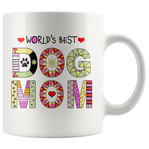 Dog Mom Mugs for Dog Lovers - Worlds Best Mom Dog Mug - Dog Stuff for Dog Lovers Coffee Cup - Fur Baby Mom - Island Dog T-Shirt Company
