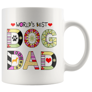 Worlds Best Dog Dad Mug - Fur Baby Daddy Coffee Mug for Men - Best Dog Father Ever