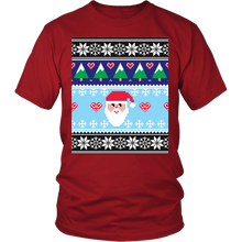 Ugly Christmas Shirt for Men and Women - Holiday Party Santa Unisex Tee - Dark - Island Dog T-Shirt Company