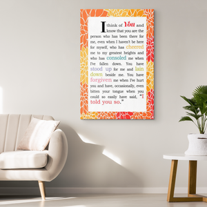 Love Present Ideas for Girlfriend or Fiancee - Love Quotes Wall Decor - Wrapped Canvas Wall Art for Her - Island Dog T-Shirt Company