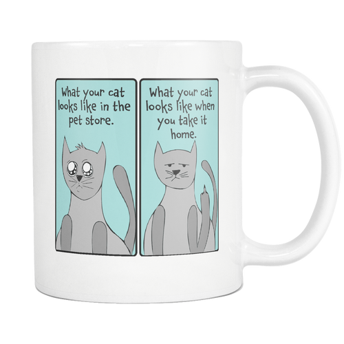 What Your Cat Looks Like - 11 oz Funny Cat Coffee Mug - Sarcastic Cat Lover Ceramic Cup - Island Dog T-Shirt Company