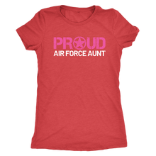 Proud Air Force Aunt - Women's Ultra Soft Comfort Short Sleeve Tee - Aunt's Military Pride Shirt - Island Dog T-Shirt Company
