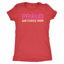 Proud Air Force Mom - Women's Ultra Soft Comfort Short Sleeve Tee - Mom's Military Pride Shirt - Island Dog T-Shirt Company